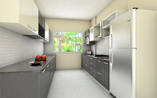 Parallel kitchen